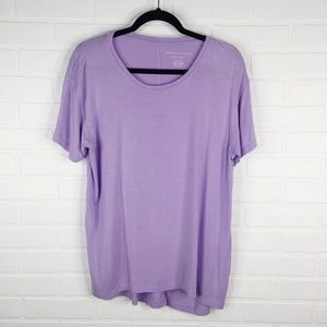 American Eagle Soft & Sexy Tunic Top Lilac Scoop